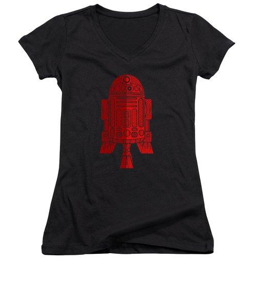 R2d2 - Star Wars Art - Red 2 Women's V-Neck