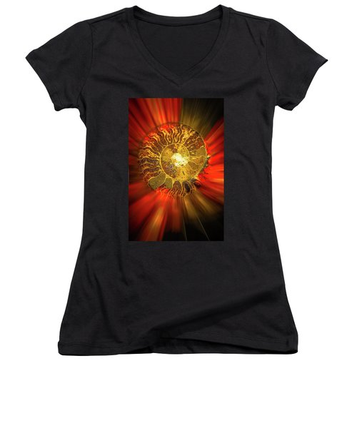 Radiance Women's V-Neck T-Shirt (Junior Cut) by Mark Dunton