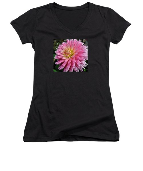 Radiant Dahlia  Women's V-Neck T-Shirt