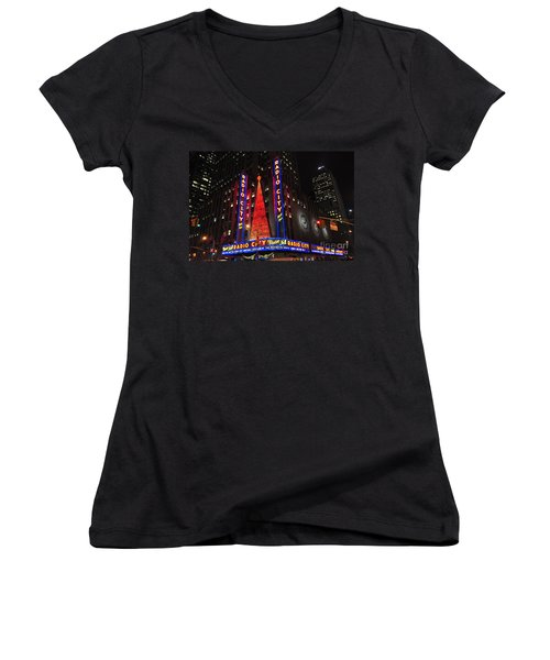 Radio City Music Hall Women's V-Neck (Athletic Fit)