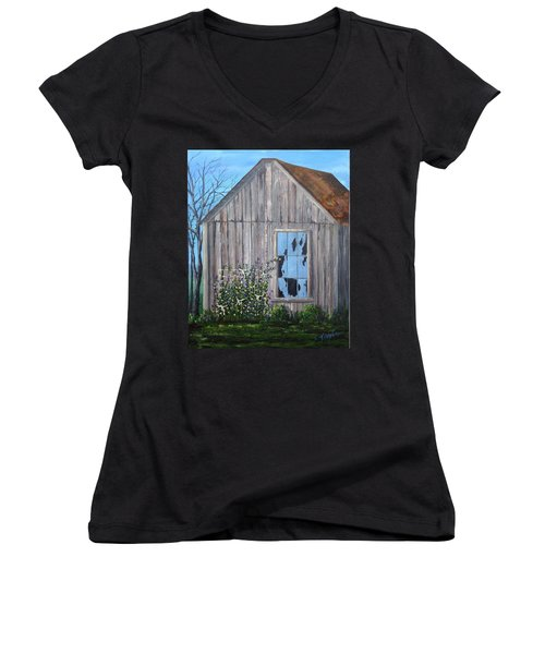 Rags, Sweet Peas And Time Women's V-Neck T-Shirt