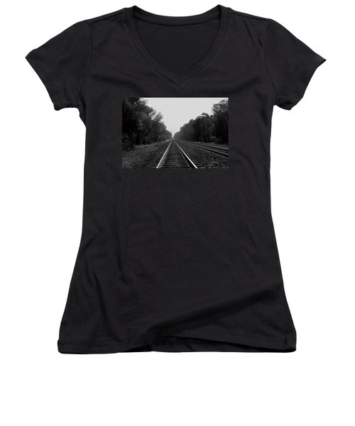 Railroad To Nowhere Women's V-Neck T-Shirt