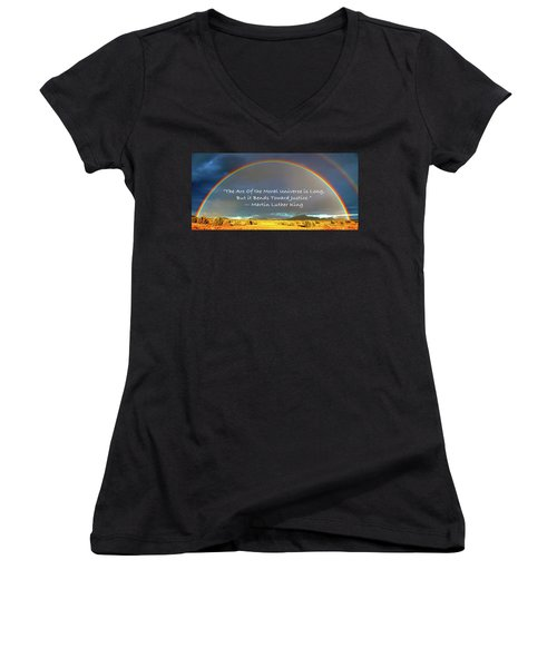 Martin Luther King - Justice Women's V-Neck