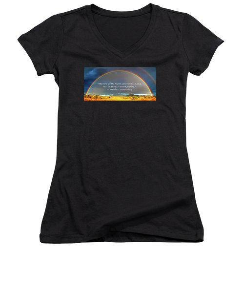 Martin Luther King - Justice Women's V-Neck (Athletic Fit)