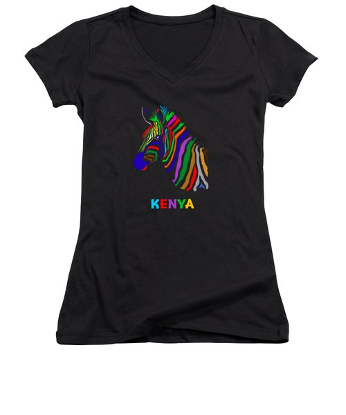 Rainbow Women's V-Neck (Athletic Fit)