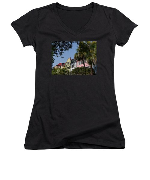 Rainbow Row Women's V-Neck (Athletic Fit)