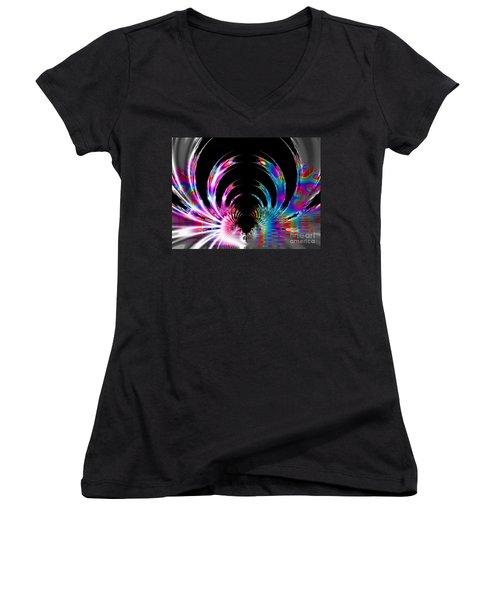Rainbow Swirls Women's V-Neck