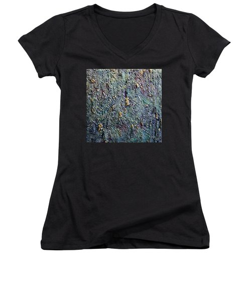 Rainbows End Women's V-Neck T-Shirt (Junior Cut) by Bernard Goodman
