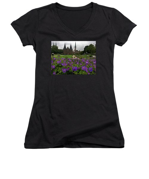 Rainy Luebeck Is Beautiful Women's V-Neck (Athletic Fit)