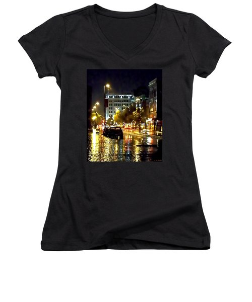 Rainy Night In Green Bay Women's V-Neck