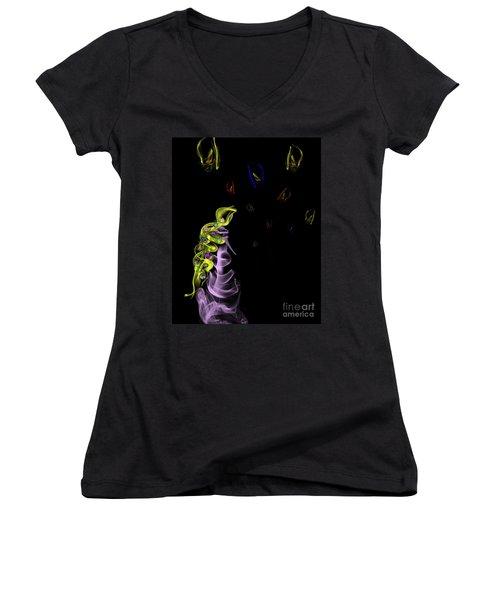 Rapunzel's Magic Flower Braid Women's V-Neck T-Shirt