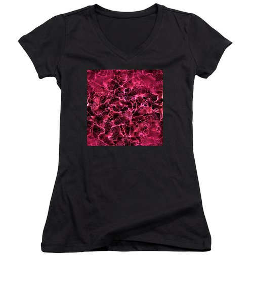 Abstract 2 Women's V-Neck T-Shirt