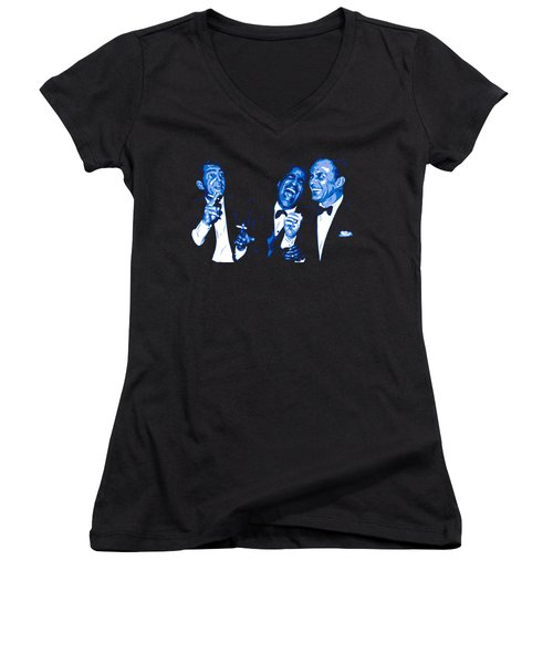 Rat Pack At Carnegie Hall Women's V-Neck (Athletic Fit)