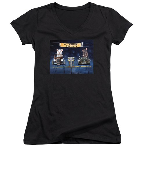 Rat Race Women's V-Neck (Athletic Fit)
