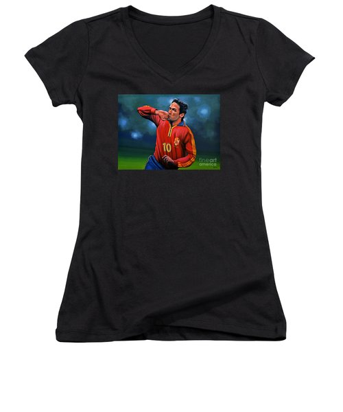 Raul Gonzalez Blanco Women's V-Neck T-Shirt