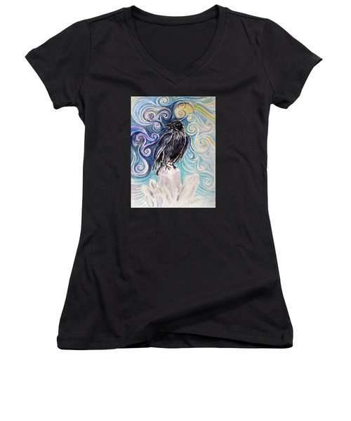 Raven Magic Women's V-Neck T-Shirt
