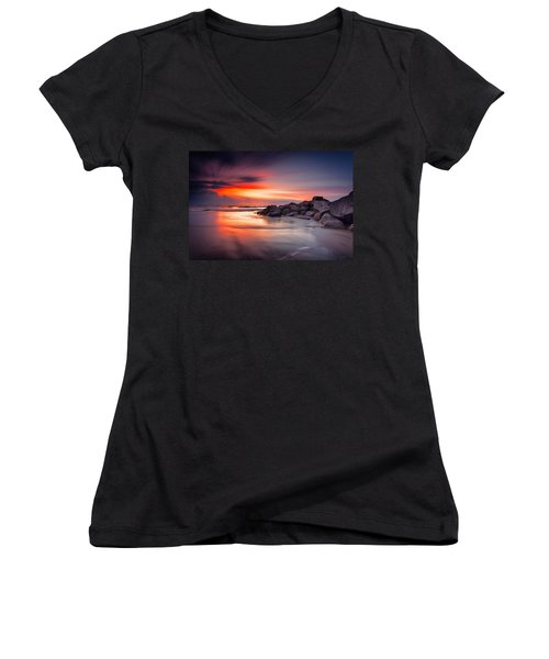 Ray Of Hope Women's V-Neck T-Shirt (Junior Cut) by Edward Kreis
