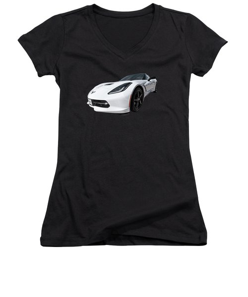 Ray Of Light - Corvette Stingray Women's V-Neck