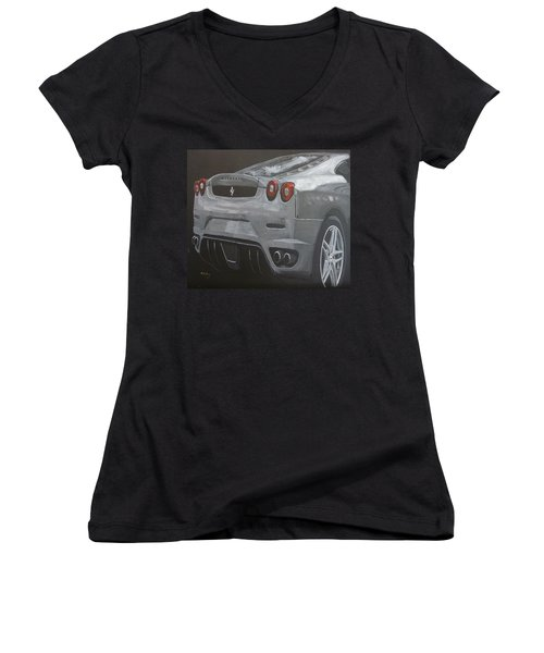 Rear Ferrari F430 Women's V-Neck