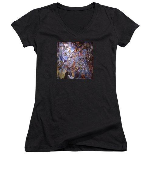 Recognition Of Baselitz, Schnabel, Langlais Women's V-Neck T-Shirt