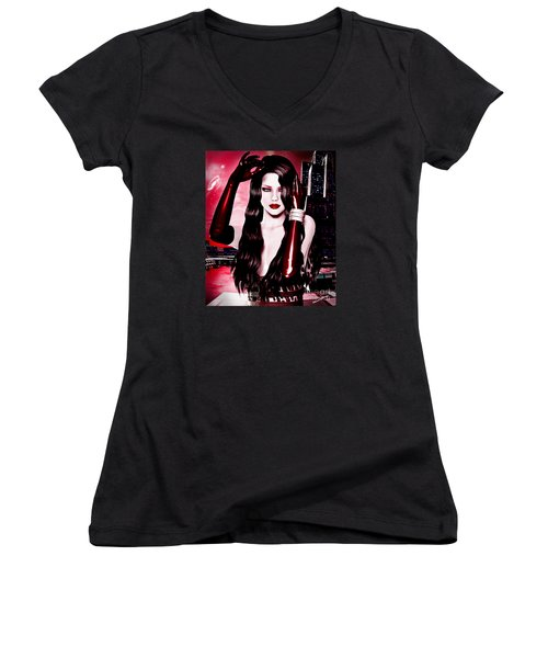 Red City Women's V-Neck T-Shirt