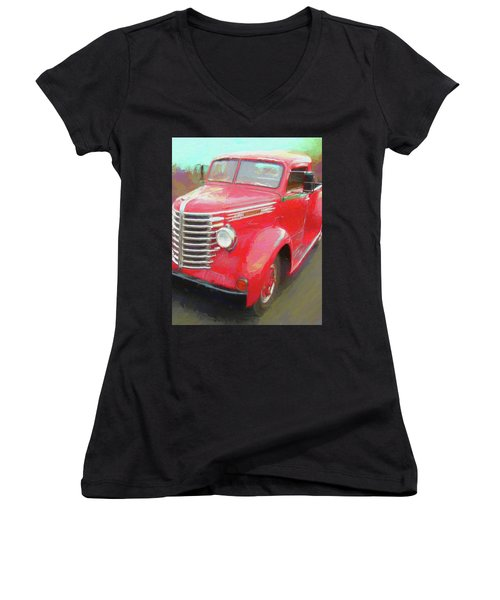 Red Diamond Women's V-Neck
