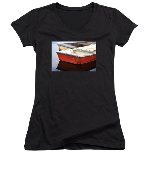 Red Dingy Women's V-Neck (Athletic Fit)