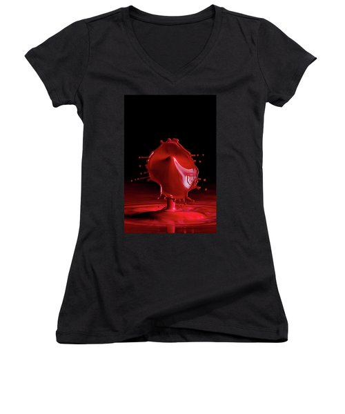 Red Drop Women's V-Neck (Athletic Fit)
