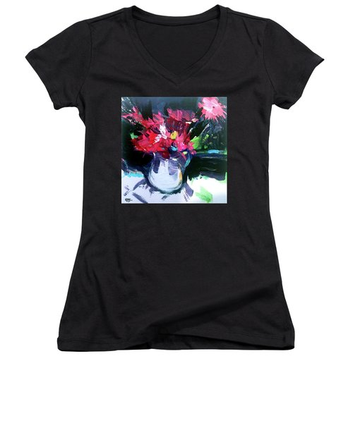 Red Glow Women's V-Neck