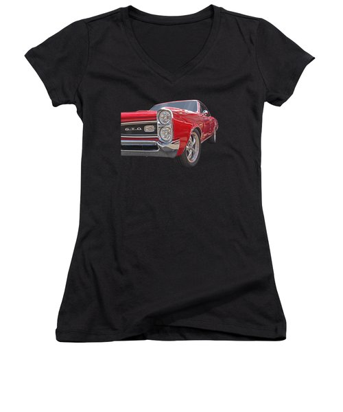 Red Gto Women's V-Neck
