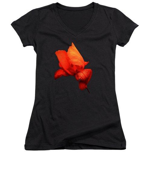 Red Iris Women's V-Neck