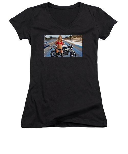 Red Is Not Always For Ducati Women's V-Neck