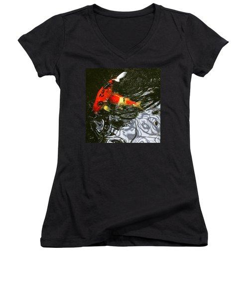 Red Koi Fish Women's V-Neck
