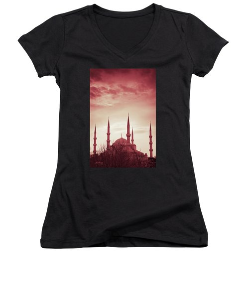 Red Peace Women's V-Neck (Athletic Fit)