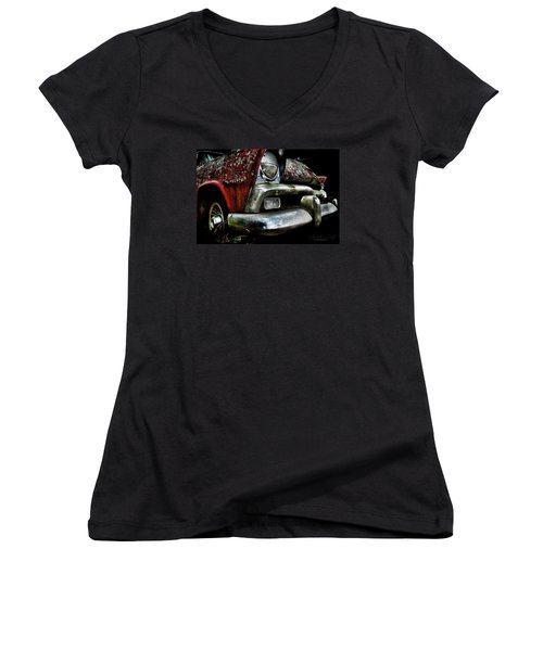 Red Plymouth Belvedere Women's V-Neck