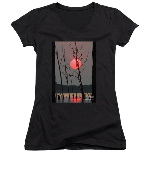 Red Rise Cormorants Women's V-Neck (Athletic Fit)