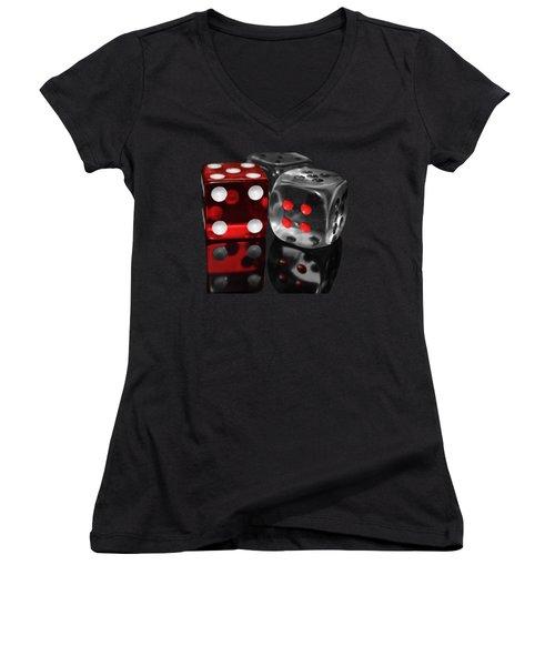 Red Rollers Women's V-Neck T-Shirt (Junior Cut) by Shane Bechler