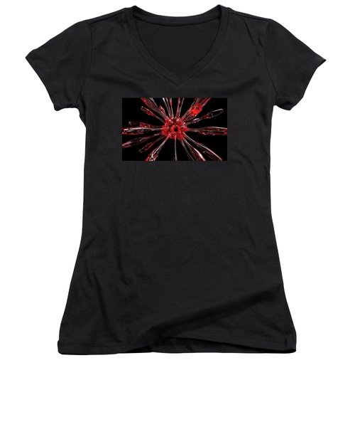 Red Spires Of Glass Women's V-Neck (Athletic Fit)