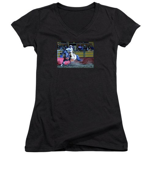 Rodeo Queen At The Grand National Rodeo Women's V-Neck