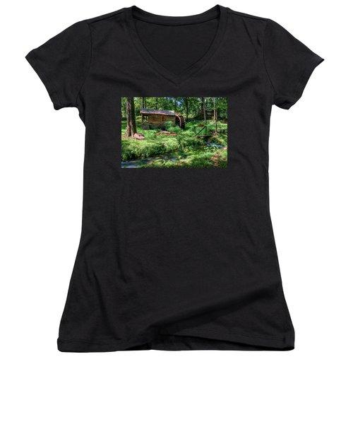 Reed's Mill Women's V-Neck T-Shirt (Junior Cut) by John Gilbert