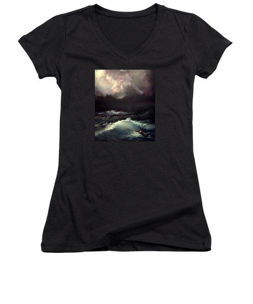 Reef Women's V-Neck T-Shirt