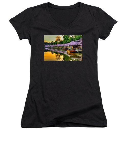 Reflection In Gold Women's V-Neck T-Shirt