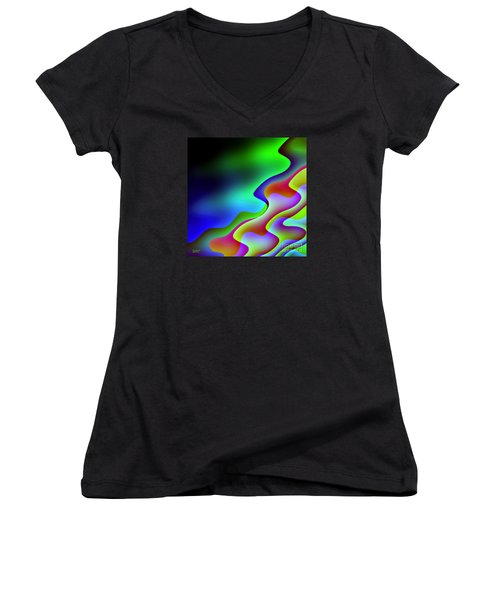 Women's V-Neck T-Shirt (Junior Cut) featuring the digital art Reflection In The Water by Dragica  Micki Fortuna