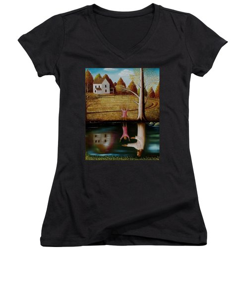 Reflection Of Protection. Women's V-Neck (Athletic Fit)