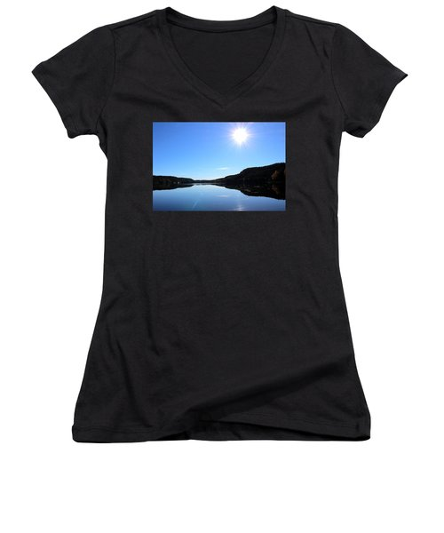 Reflection Of The Lake Women's V-Neck (Athletic Fit)