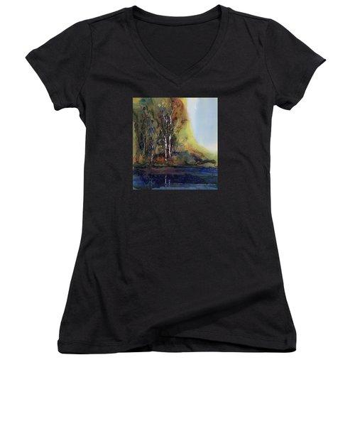 Reflections Women's V-Neck T-Shirt (Junior Cut) by Carolyn Doe