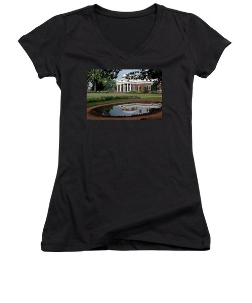 Reflections Of Monticello Women's V-Neck T-Shirt