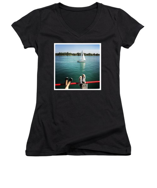 Relaxing Summer Boat Trip Women's V-Neck