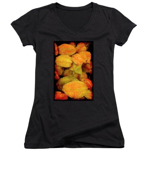 Renaissance Star Fruit Women's V-Neck (Athletic Fit)
