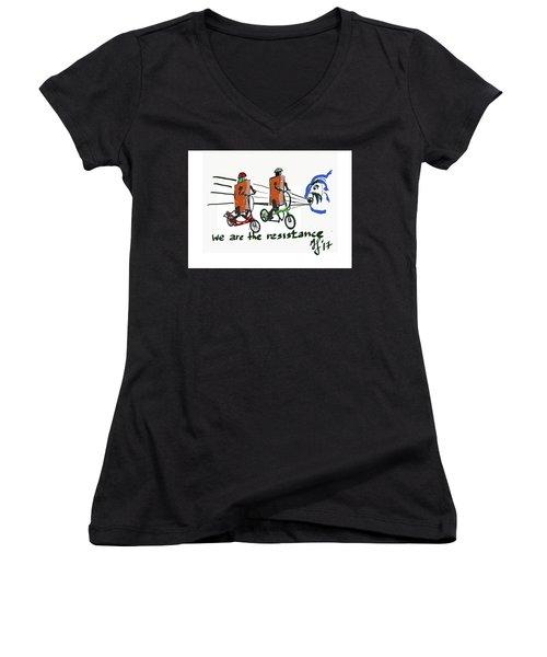 Resistance Women's V-Neck T-Shirt